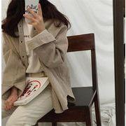 ❤秋冬コーデにぴったり♪ 韓国ファッション おしゃれな 気質 コーデュロイ トレンチコート コート