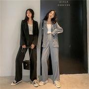 ★ 初秋 シンプル ファッション スーツ ゆったりする 百掛け コート 快適 ワイドレッグ ロングパンツ
