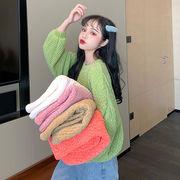 キャンディカラー 日省 スウィート 森 省 秋冬 新しいデザイン セーターの女性 ルース