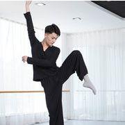 激安!ダンス服◆バレエレオタード◆ダンス教室練習着◆メンズ◆ヨガ◆モダンダンス◆長袖Tシャツ160-185