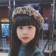 女の子帽子★♪秋冬★♪ファション★♪ベレー帽★♪暖かい★♪豹柄親子款★♪ハット★♪可愛い帽子