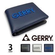 全3色 GERRY(ジェリー)立体刺繍ロゴ 二つ折り財布 ショートウォレット フェイクレザー