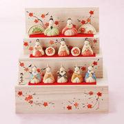 ★ひな祭りを飾る★ 縁起の良い雛人形【花木箱 段雛飾り・大】