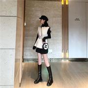 韓国 タンクトップ ウエスト スリム ベスト ファッション カジュアル 長袖トップス 秋 スポーツ用インナー