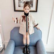女の子 女児  長袖 ラシャコートファッション 子供服 キッズ服  冬物 90-130 カジュアル系 防寒