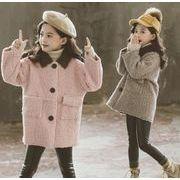 防寒コート 女の子 裏ボア 厚手 女児 長袖 子供服 キッズ服 冬物 カジュアル系