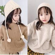 冬新款★♪ファッション★♪女の子コート★♪ブラウス上着★♪暖かいトップス★♪防寒♪♪♪