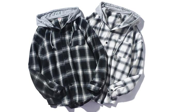 チェック柄 シャツ 長袖 韓国 大きいサイズ トレンド 百掛け コート 秋 カジュアル ブラウス カレッジ風