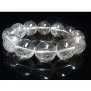 OSir4  お試し価格 一点物 シルバールチル ブレスレット 銀針水晶 天然石 数珠 17-18ミリ