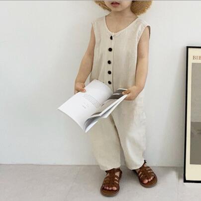 2021新作 子供服 ★大人気アパレル ★男女通用ズボン ★カジュアルパンツ ★連体服 ★無袖