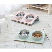 犬 猫 ペット用 フードボウル 食器台 ステンレス ボウル付き 餌入れ 水入れ 洗える ペット用品