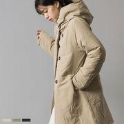 中綿フード付ロングコート