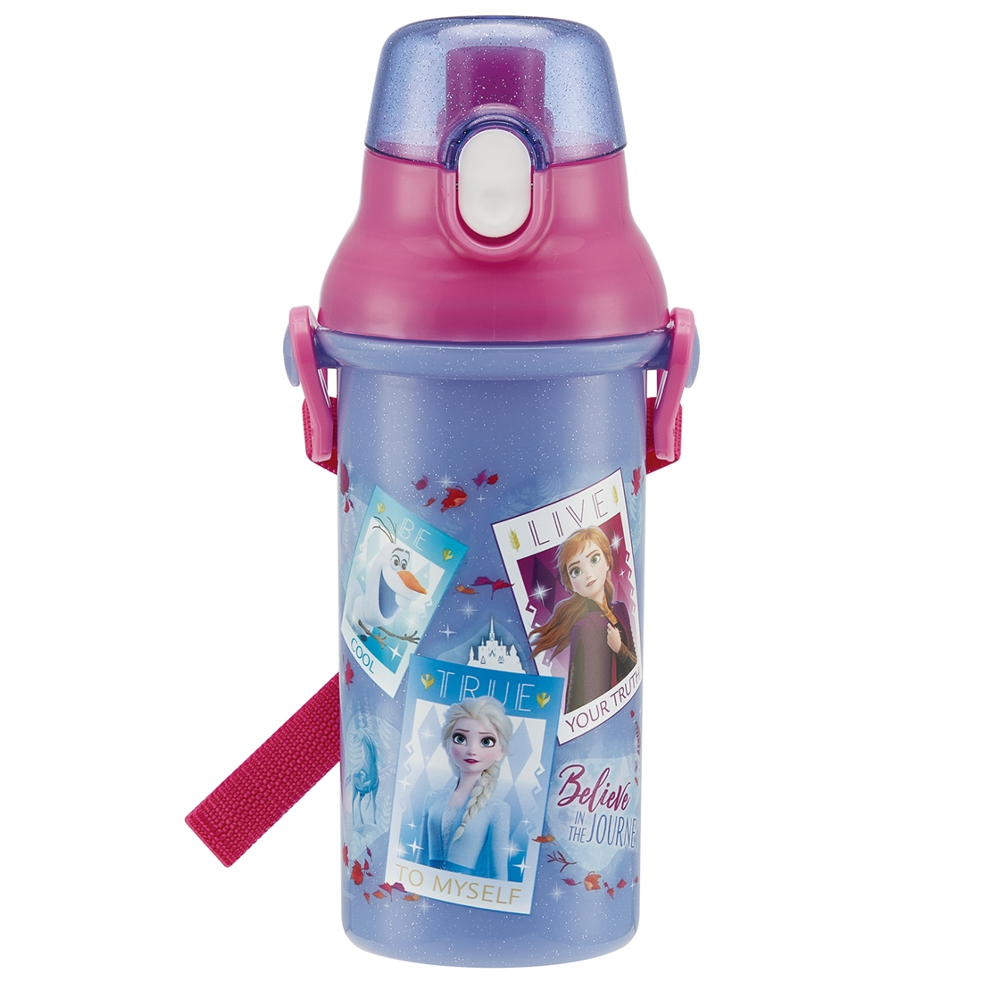 アナと雪の女王 2 水筒 直飲プラワンタッチボトル アナ&エルサ