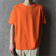 2019 夏 ゆったりする 半袖 Tシャツ ボーイ 男の子ファッション トップスオレンジ