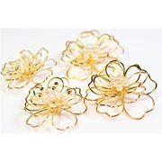 【高品質銅製品使用】ワイヤフラワー ワイヤ花モチーフ 大型サイズ 存在感抜群 トレンドパーツ