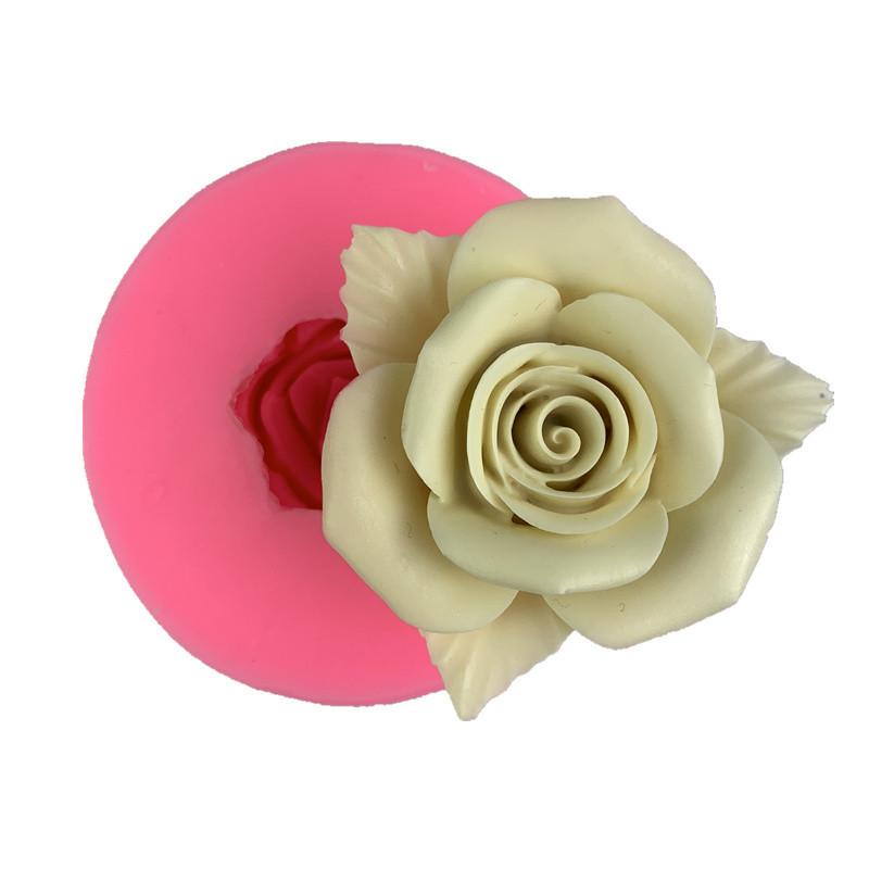 激安☆DIYフォンダン★石鹸アロマ モールド キャンドル チョコ★ゴム型 UV樹脂レジン★薔薇フラワー