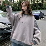 秋冬新作 731774 大きいサイズ 韓国 レディース ファッション  裹起毛  パーカー   LL-4L