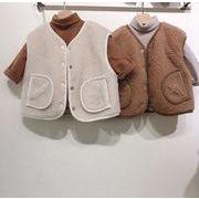 バーシブルタイプ  フワフワ 中綿コート韓国子供服 子供服 キッズ ジャケット ベスト
