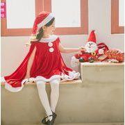 2019年新品★メリクリスマス★3点セット★ワンピース+パンツ+帽子★子供服★Christmas★2色100-150