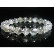 現品一点物 プラチナルチル ブレスレット 白金水晶 数珠 11ミリ 36g Pr53