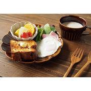 【濃釉鎬】 22cmプレート 大皿   [日本製 美濃焼 食器]