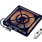 メトロ カーボン500W手元電コントロール式温風ヒーター