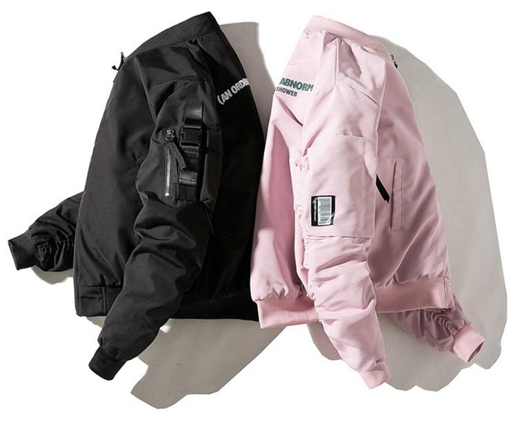 カップル 中綿MA-1ジャケット 無地 厚手ジャケット