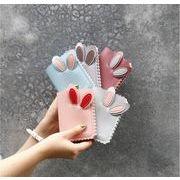 韓国レディース財布  学生 二つ折り  かわいいうさぎの耳  大容量    カード入れ    小銭入れ   6色