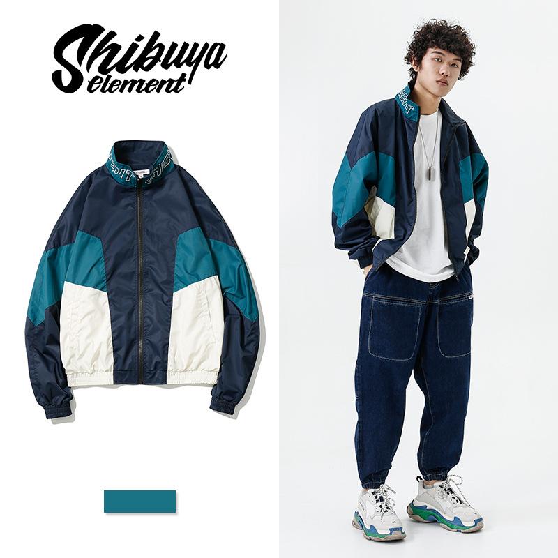 ジャケット ハイネック メンズ プリント ジュアル 厚手 SALE 2019秋冬新作 ファッション