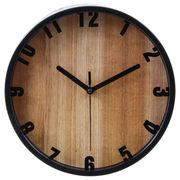 掛け時計 ブランチ Φ22cm ブラック