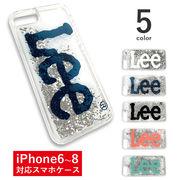 【全5色】Lee リー iPhone6 iPhone7 iPhone8 流れるキラキラグリッターケース カバースマホケース