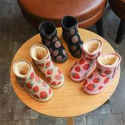 女児 裏起毛 スノーブーツ 冬 韓国風 新しいデザイン 児童 暖かい スキッド ブーツ