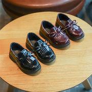 児童 革靴 春秋 新しいデザイン 英国スタイル 学生 表 靴 韓国風 女児 靴 リボン