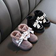 女児 ブーツ 秋冬 新しいデザイン スノーブーツ 裏起毛 コットン靴 ブーツ 中 大 子