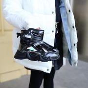 女児 ブーツ 秋冬 新しいデザイン 手厚い スノーブーツ 裏起毛 防水 男児 コットン靴
