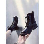 ネット レッド 女性のブーツ 冬 新しいデザイン アンティーク調 何でも似合う 厚底 原