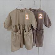 2020新品★キッズファッション★子供ワンピース★フレアワンピース★子供服★女の子★可愛い★2色80-130