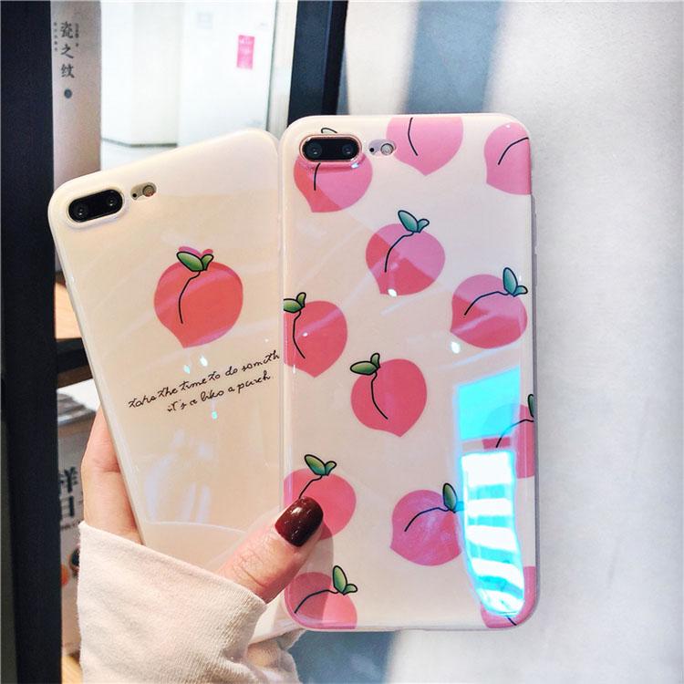 果物柄スマホケース iPhone XR ケース iPhone7 plus/8 plusカバー