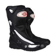 オートバイ ブーツ スピード バイカー レース バイク モトクロス 靴 ツーリング  膝丈 ライディンブラック