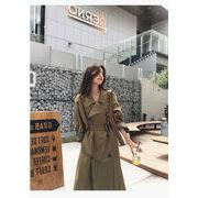 韓国 ファッション トレンチコート コート ダブルブレスト レディース 女性 大人っぽい