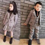 スーツ スカート+アウター セット上下2/3点 韓国子供服 キッズ 通学 女の子男の子 2020新作 セール