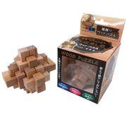 <おもしろバラエティ雑貨><脳トレグッズ>木製パズル H No.209-527