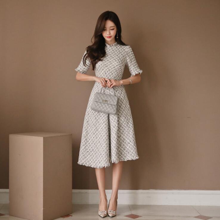 ワンピース フレアワンピース 半袖ワンピース ドレス
