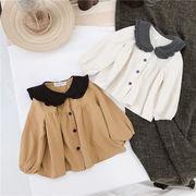 2020新品★♪子供服★♪麻布シャツ★♪韓国風★♪女の子上着★♪ワイシャツ♪♪♪
