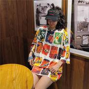 春夏新作 732173大きいサイズ 韓国 レディース ファッション    Tシャツ   LL-4L