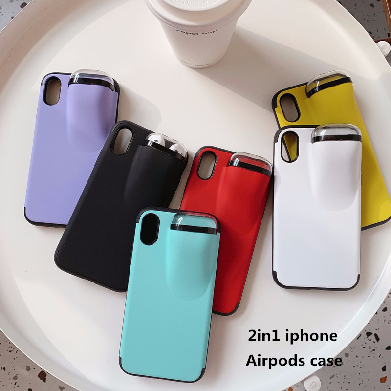 2in1 iphone&Airpods case iPhone11ケース iPhone11proケース iPhone11pro maxケース iPhoneケース