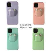 2in1 iphone&Airpods case iPhone11ケース iPhone11proケース iPhone11pro maxケース iPhoneケース