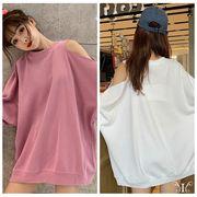 【即納732012大きいサイズ 韓国 レディース ファッション    Tシャツ   LL-4L