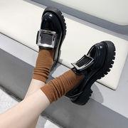 靴 女靴 春 新しいデザイン 小さな靴 女性英国スタイル スクエアバックル 怠惰な カジ