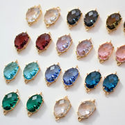 新品 銅材質 輝くダイヤモンド 耳飾り用 ブレス用 ネックレス用 アクセサリーパーツ
